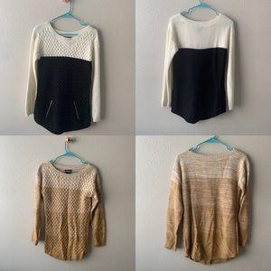 Hooked Up Sweater Bundle. Size aM.